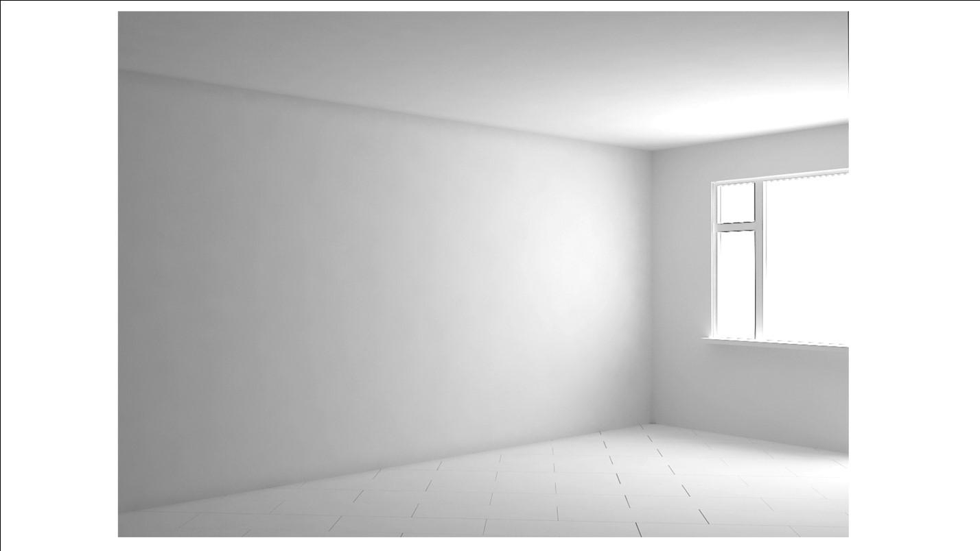Пустая комната (визуализация 3d)