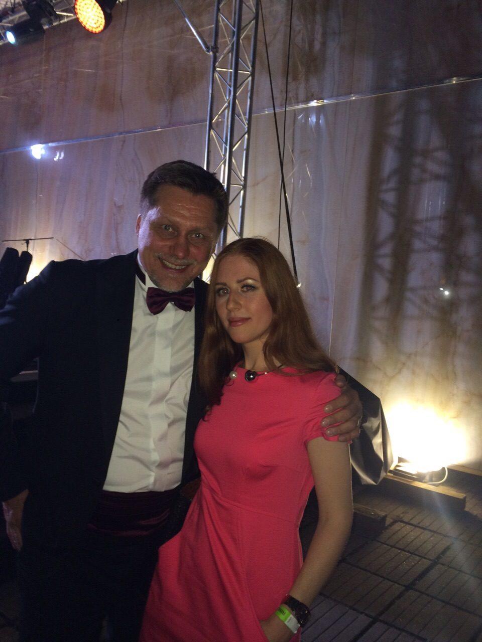 Я и Гедиминас Таранда  ЦДХ  АРХ- Москва